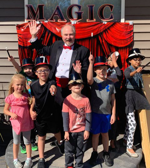 Daryl Rogers Doing Magic At Birthday Party